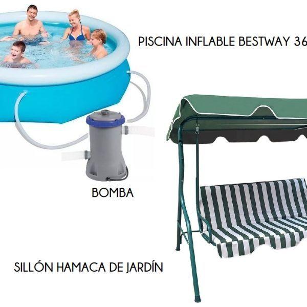 HAMACA + PISCINA 3638 LTS + BOMBA + FILTRO