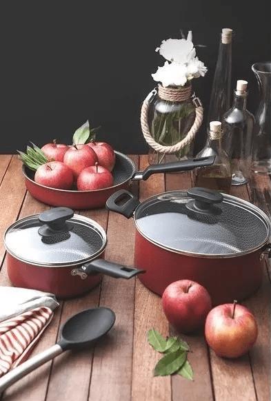 Juegos Juego Bateria Cocina Tramontina Turim 9 Piezas