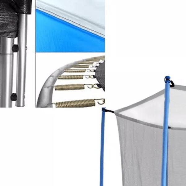 Cama Elástica Trampolín 2,44m + Escalera + Aro De Basketball + Pelota