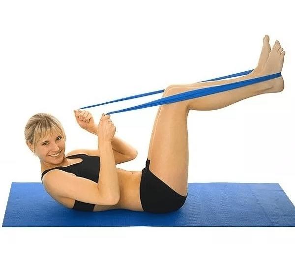 Banda Elástica 100% Latex Yoga Pilates Fitness Thera Band
