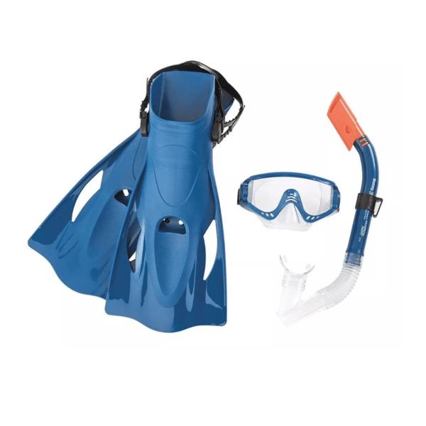 Snorkel Mascara Y Patas De Rana Bestway Hydro-swim Adultos