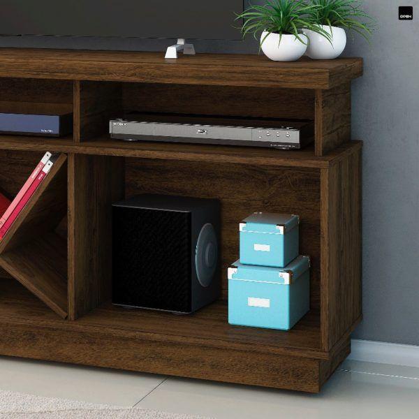 Rack Mesa De Tv Puerta Corrediza Y Estantes Moderno Diseño