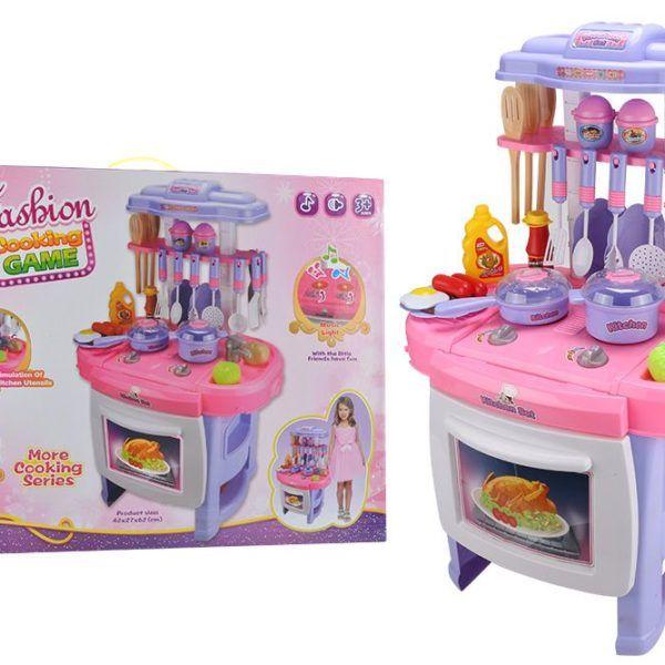 Mini Cocina Para Niños Con Luz Y Sonidos + Utensilios