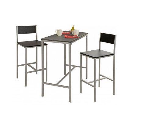 Juego Comedor Desayunador Mesa + 2 Banquetas Mdf