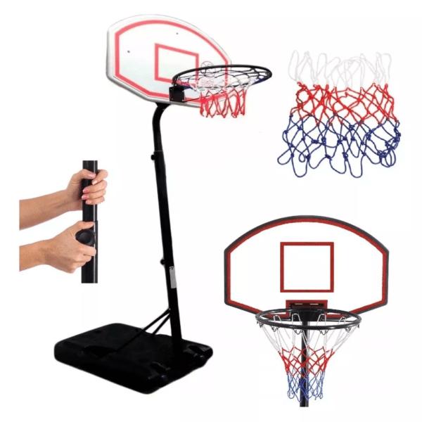 Cama Elástica Trampolín 2,44m + Escalera + Tablero De Basket + Pelota