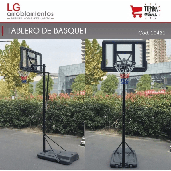 Tablero Aro Basketball Basquet Altura Regulable