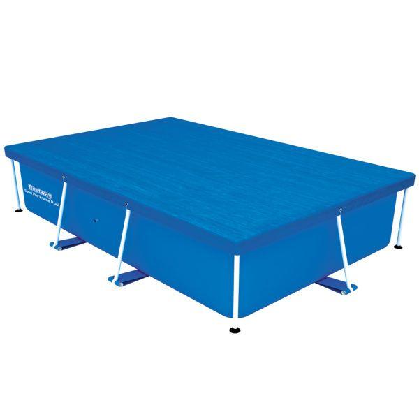 Cobertor para piscina estructural rectangular 2.59 m. x 1.70 m + cuerdas