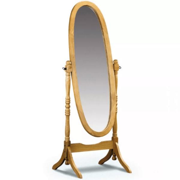 Espejo De Pie Oval Tabaco De Diseño