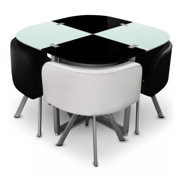 Comedor con 4 butacas mesa en vidrio