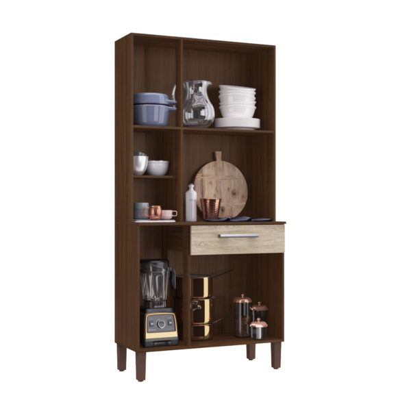 Mueble Cocina Compacta Kit 6 Puertas 1 Cajon