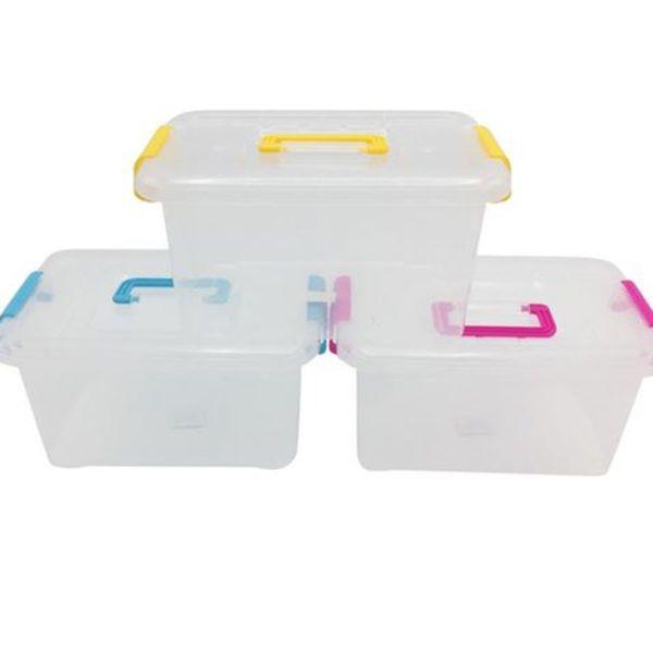 Caja Organizadora Grande Plástico 15 Litros C/ Tapa Y Tranca