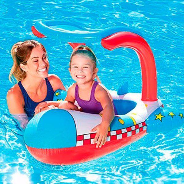 Asiento Flotador Inflable De Bomberos Para Niños Bestway