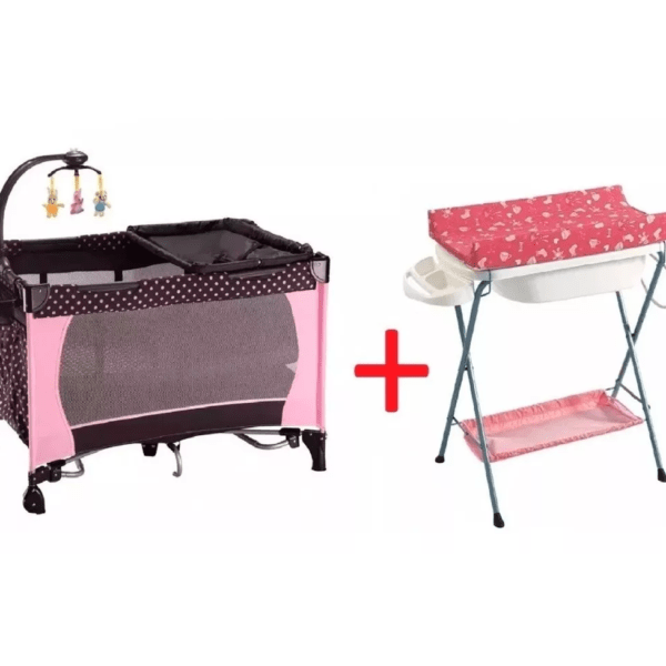 Baño Bañito Con Cambiador + Practicuna Cuna Para Bebe Combo