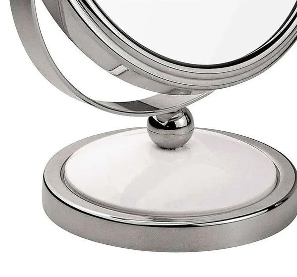 Espejo Maquillaje De Pie Aumento Doble Cara Mor