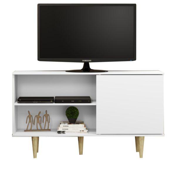 Rack Mesa De Tv Mueble De Comedor Living C/puerta Batiente