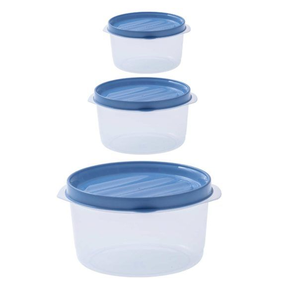 Juego Set 3 Tupper Bowl Con Tapa Top Facil Paramount