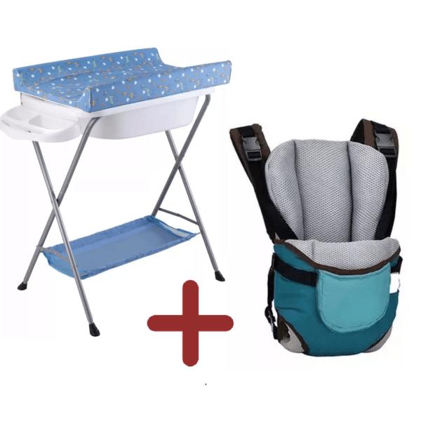 Baño Bañito Con Cambiador Para Bebe + Marsupio Bebe