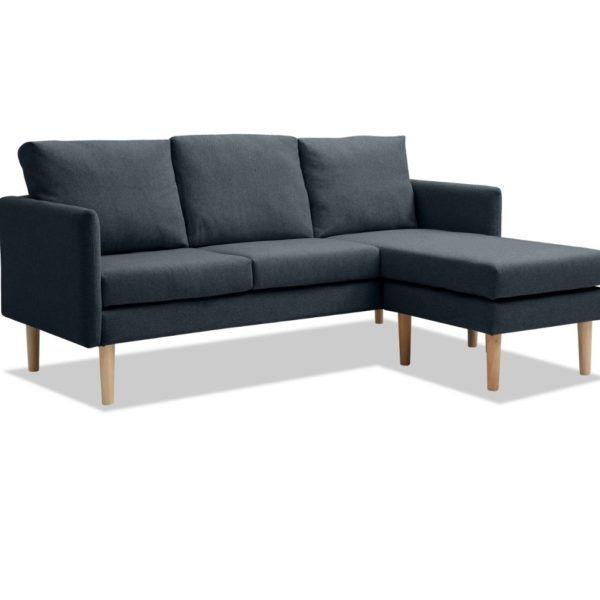 Sillon Sofa Chaise Longue 3 Cuerpos Sillones Juego Tela