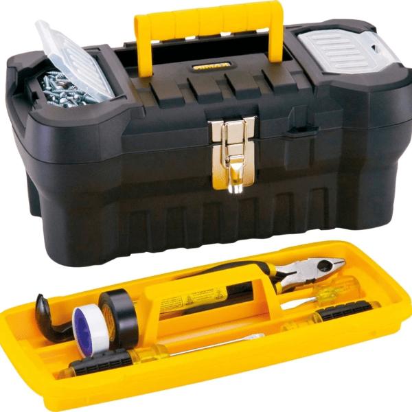 Kit Taladro 13 mm + Amoladora 115 mm Goldex + Caja De Herramientas Rimax