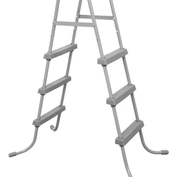 Escalera Metálica Para Piscina Bestway 3 Escalones 107 Cm