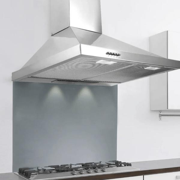 Campana Extractora Acero Inox 60cm Con Luz Y Filtro Lavable