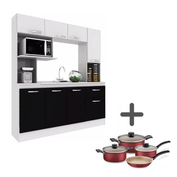 Cocina Compacta C/mesada+ Juego De Ollas Tramontina Combo