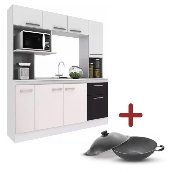 Cocina Compacta C/mesada+ Olla Wok Paris Tramontina Combo