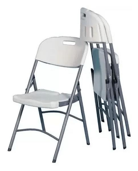 Silla Plegable De Plástico Y Acero Para Jardín Camping