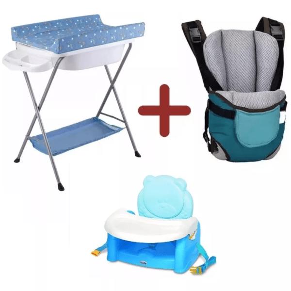 Baño Bañito Cambiador+ Marsupio Bebe+ Silla Elevadora Comer