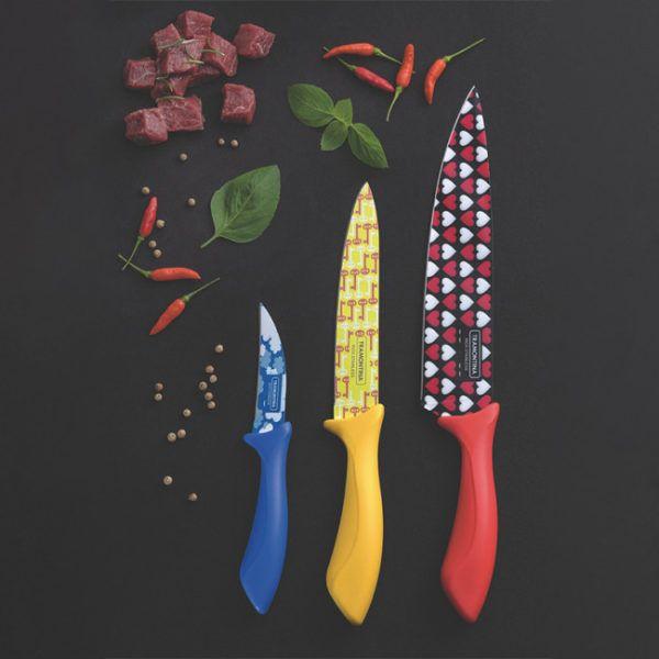 Juego De Cuchillos Colorcut 3 Piezas – Tramontina