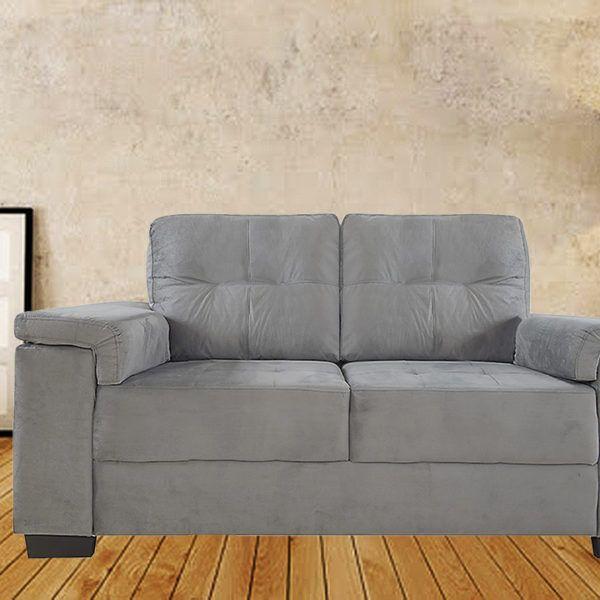 Sillón Sofa 2 Cuerpos De Madera Y Tela Alcohol Clean