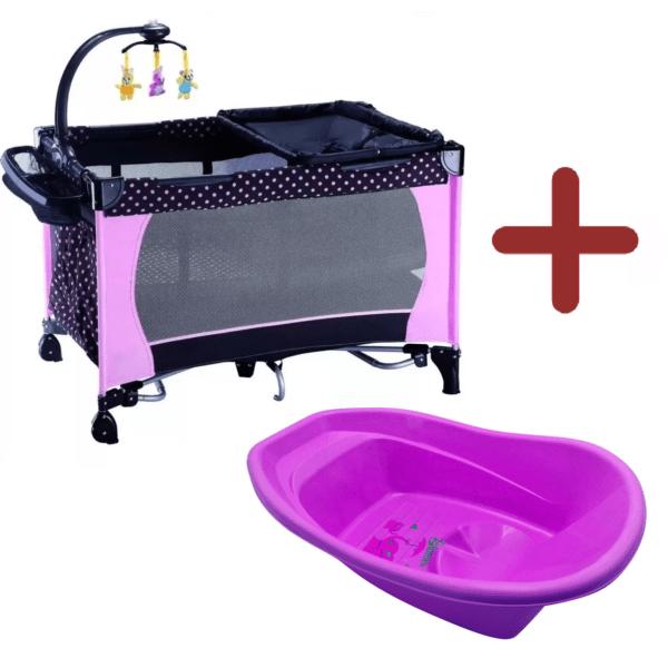 Practicuna Corral Cuna Bebe Infantil + Bañito Baño