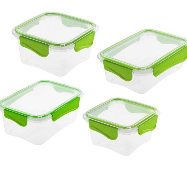 Set De 4 Recipientes Tupper Plástico Herméticos Rimax