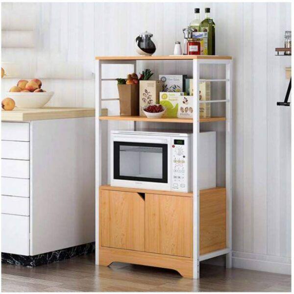 Multiuso 2 Puertas Y Estantes Mueble Cocina Microondas
