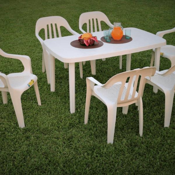Mesa De Jardín Exterior Rectangular Plástico