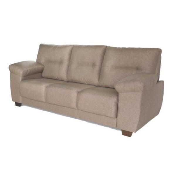 Sillon Sofa Living 3 Cuerpos Tapizado En Tela