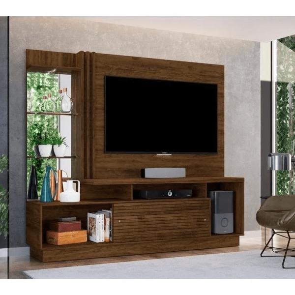 Modular Premium Con Espejo Y Estantes De Vidrio Comedor