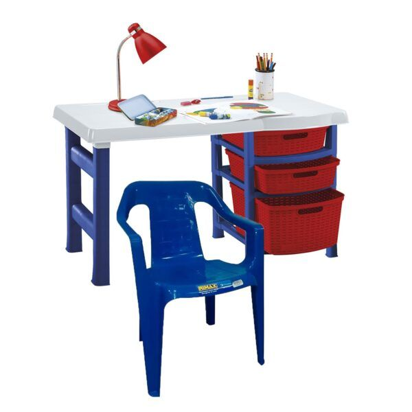 Set Escritorio Infantil 3 Cajones Plástico Rimax + Silla